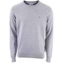 Ben Sherman Mens Cotton Crew Knit Grey