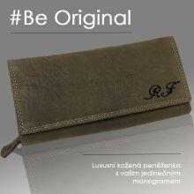 f911a457e83 Luxusní dámská kožená peněženka s vlastním monogramem