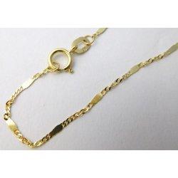 e6e223d9a Dámský zlatý řetízek TWIST s destičkou 585/1,05gr 45cm 3040435 od 1 090 Kč  - Heureka.cz