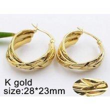 Zyta Náušnice ocelové Kruhy zlaté 20495 cb7b1b1c3a2