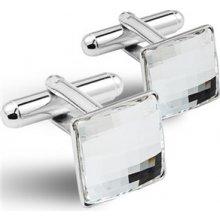 Manžetové knoflíčky CHESSBOARD 12 mm, SWAROVSKI® elements, Crystal