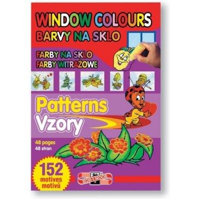 Koh-i-noor šablona vzory pro slupovací barvy 152 motivů