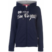 4dd8ff13e2 Lee Cooper Long Line Zip Hoodie Ladies Navy Glitter