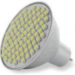 Whitenergy Led žárovka GU5.3 80 SMD 4W 12V Teplá bílá reflektorová