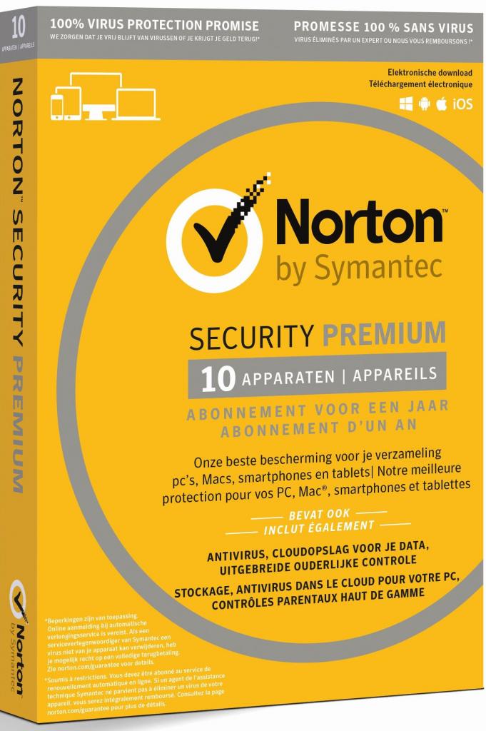 Symantec NORTON SECURITY PREMIUM 1 lic. 3 roky (21386558)