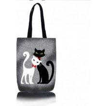 Kočičí kabelka Černobílá