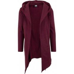 0c6390776 Urban Classics Long Hooded Open Edge Cardigan burgundy