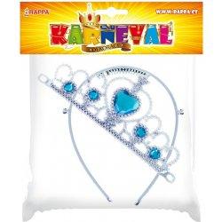 Dětský karnevalový kostým korunka pro zimní princeznu modrá 3b730ac864