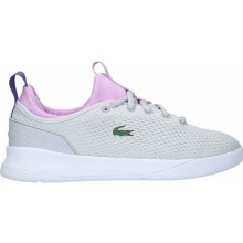 58243048c Lacoste LT Spirit Trainers Grey/Purple 551707