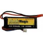 LiPol Black Magic 7.4V 950mAh 35C JST Blade CX2