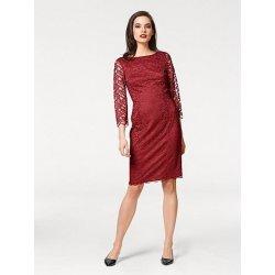 22afa98d1942 Dámské šaty Krajkové šaty vínově červená