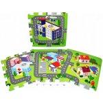 Teddies BABY Pěnové puzzle Město 32 x 32 cm 9 ks