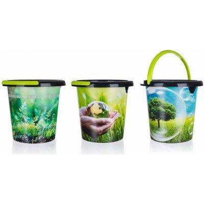 Brilanz Kbelík plastový ECO 5 l mix dekorů