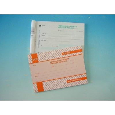 Optys 1302 Jednoduchý příjmový pokladní doklad A6 samopropisující 100 listů