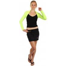 TopMode Krátká sportovní sukně černá/žlutá 61SE54 černá/žlutá