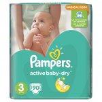 Pampers Active Baby-Dry 3 midi 4-9 kg 90 ks