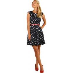 c13626d211b7 TopMode áčkové šaty s puntíky 5SY278 tmavě modrá od 1 285 Kč ...