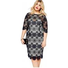 5e72fdb5ab6 LM moda elegantní krátké krajkové šaty 0642 černá
