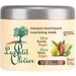 Le Petit Olivier Vyživující maska na vlasy - Oliva, bambucké máslo a arganový olej 300 ml