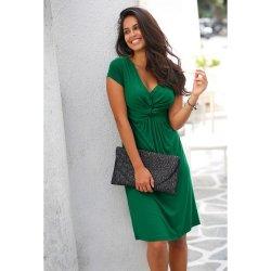 671b099ff952 Blancheporte splývavé úpletové šaty zelená od 699 Kč - Heureka.cz