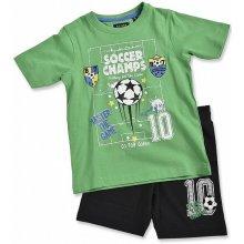 Blue Seven Dětská souprava zelené tričko a kraťasy Football