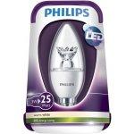 Philips LED Kerze E14 3W 25W Teplá bílá 250 lm čirá