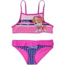 E plus M dívčí dvoudílné plavky Paw Patrol růžové