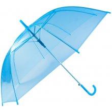 Průhledný deštník tmavě modrý