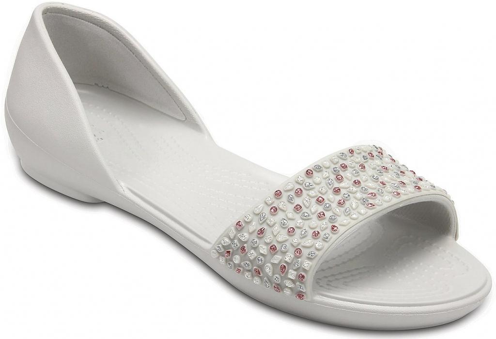 Crocs Lina Embellished Dorsay Flat Pearl white rose gold od 839 Kč -  Heureka.cz 616c3d396d
