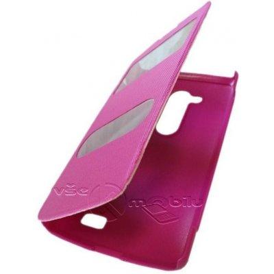 Pouzdro Forcell S-View LG D290N L Fino růžové