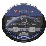 Verbatim BD-R 25GB 4x, M-Disc, printable, spindle, 10ks (43825)