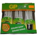 GP SET žárovek U4 E14/9W+11W - E27/13W (3set) Teplá bílá