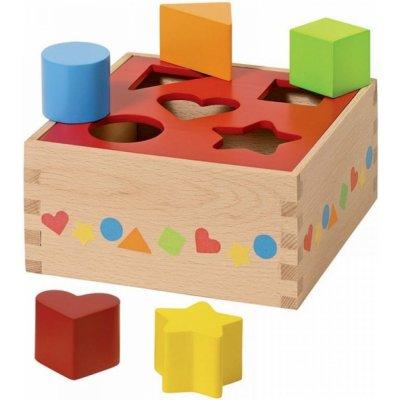 Goki vkládačka Základní tvary 10 kostek