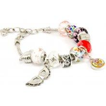 Murano náramek z vinutých perel Dora berevná 10001810001