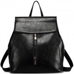 Miss Lulu kožený batoh černý alternativy - Heureka.cz 3bc6913a0c