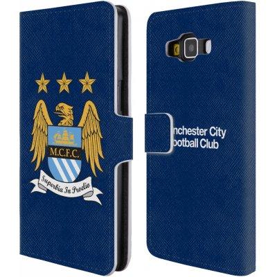 Pouzdro HEAD CASE Samsung Galaxy A5 A500F Oficiální Manchester City znak a modré pozadí