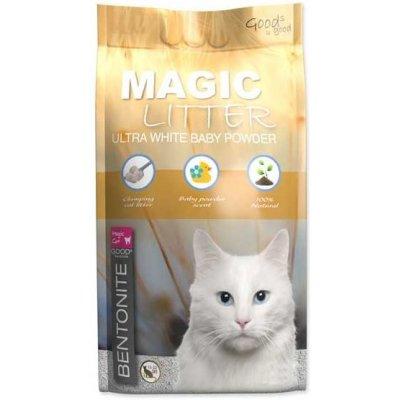Magic Pearls Kočkolit LITTER Bentonite Ultra White Baby Powder 5 l