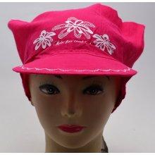 RDX Dívčí šátek s kšiltem 7539 růžová 014700229b
