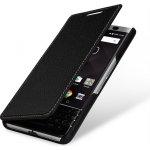 Pouzdro StilGut® kožené Book Type bez klipu BlackBerry KEYone černé
