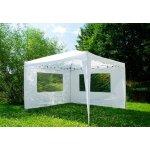 Zahradní párty stan 3 x 3 m + 2 boční stěny bílý