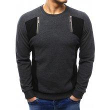 BASIC Pánský svetr (wx1028) tmavě šedý