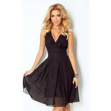 Luxusní dámské společenské a plesové šifonové šaty SHIM.cz KARA 356 černé