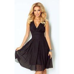 6046afbc6ff Numoco luxusní dámské společenské a plesové šifonové šaty Kara 356 černá