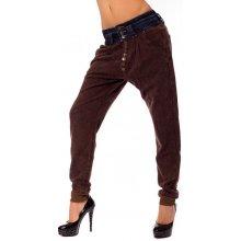 ce49a56d46c V V Dámské harémové kalhoty s jeans pasem
