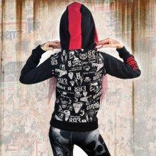 Yakuza Allover Label Flex Zip GHZB 11112 Black 91d03ae4c5d
