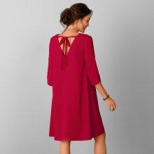 3129ca74e Blancheporte šaty s výstřihem a vázačkou vzadu červená