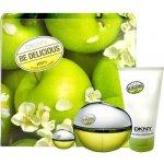 DKNY Be Delicious EdP 100 ml + EdP 7 ml + tělové mléko 100 ml dárková sada