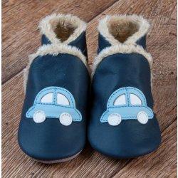45ca323d0bd Kojenecké boty Taptapi Zimní kožené capáčky Autíčko