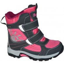 3bd7dca422a Bugga Dívčí zimní boty růžovo-šedé