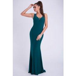 4fa0c8557fcc Eva   Lola dámské luxusní dlouhé plesové šaty tm. zelená alternativy ...